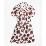 Girls Cotton Sateen Floral Print Dress