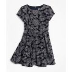 Girls Embroidered Ruffle Dress