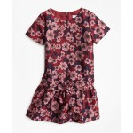 Girls Jacquard Drop Waist Dress