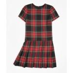 Girls Short-Sleeve Tartan Dress