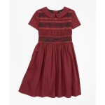 Girls Cotton Short-Sleeve Smocked Dress
