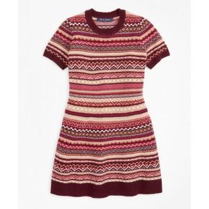 Girls Merino Wool-Blend Fair Isle Sweater Dress