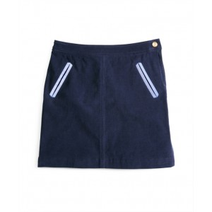 Girls Corduroy Skirt with Oxford Trim