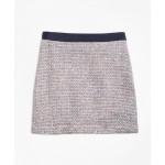 Multicolor Boucle Skirt