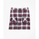 Twill Plaid Skirt