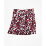 Girls Cotton Sateen Floral Skirt