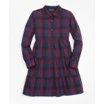 Girls Buffalo Check Shirt Dress
