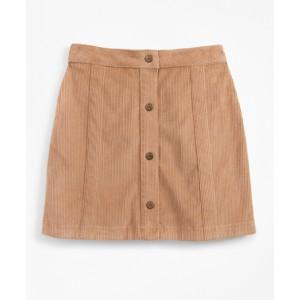 Girls Stretch Cotton Corduroy Skirt