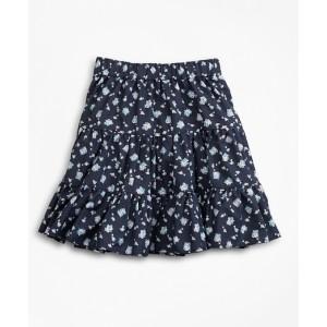 Girls Supima Cotton Floral Skirt