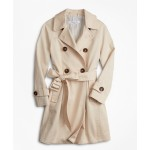 Girls Double-Breasted Trench Coat