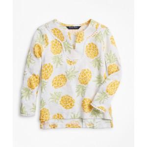 Girls Cotton Pineapple Print Tunic T-Shirt