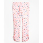 Girls Cotton Tossed Candy Print Pants