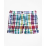 Girls Cotton Madras Shorts