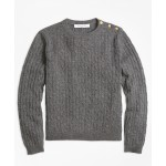 Girls Cashmere Cable Crewneck Sweater