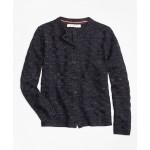 Girls Merino Wool Basketweave Cardigan