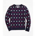 Girls Cotton Mini Polka Dot Sweater
