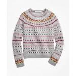 Girls Merino Wool Fair Isle Sweater