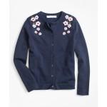 Girls Cotton Floral Cardigan