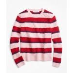 Girls Merino Wool Stripe Sweater