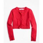 Girls Cotton Cropped Cardigan