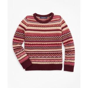 Girls Merino Wool-Blend Fair Isle Sweater