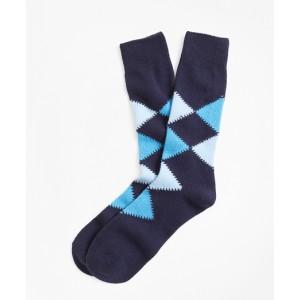 Cashmere Argyle Crew Socks