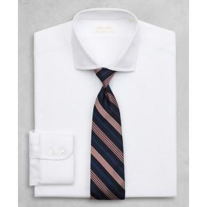 Golden Fleece Regent Fitted Dress Shirt, English Collar White Herringbone