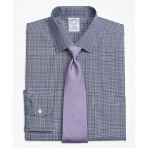 Stretch Regent Fitted Dress Shirt, Non-Iron Glen Plaid