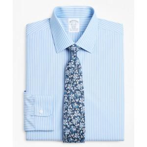 Stretch Regent Fitted Dress Shirt, Non-Iron Ground Stripe