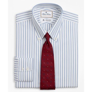 Luxury Collection Regent Fitted Dress Shirt, Button-Down Collar Stripe
