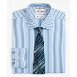 Luxury Collection Regent Fitted Dress Shirt, Franklin Spread Collar Pinstripe