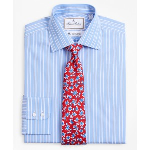 Luxury Collection Regent Fitted Dress Shirt, Franklin Spread Collar Ribbon Stripe