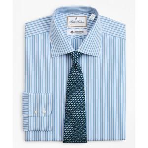 Luxury Collection Milano Slim-Fit Dress Shirt, Franklin Spread Collar Pinstripe