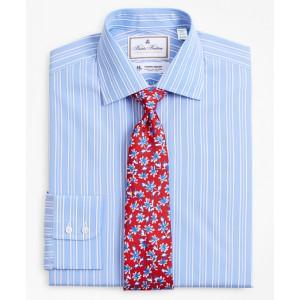 Luxury Collection Milano Slim-Fit Dress Shirt, Franklin Spread Collar Ribbon Stripe
