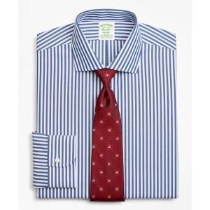 Stretch Milano Slim-Fit Dress Shirt, Non-Iron Bengal Stripe