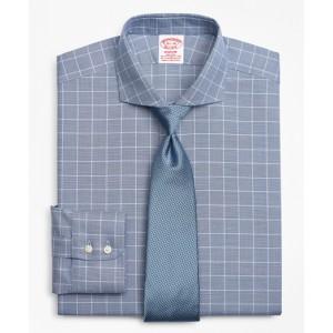 Stretch Madison Classic-Fit Dress Shirt, Non-Iron Royal Oxford Glen Plaid