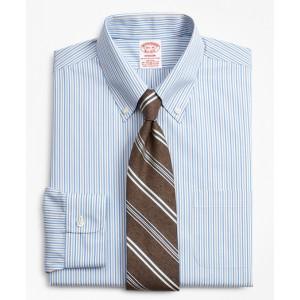 Stretch Madison Classic-Fit Dress Shirt, Non-Iron Alternating Stripe