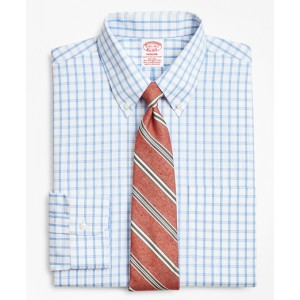 Stretch Madison Classic-Fit Dress Shirt, Non-Iron Outline Windowpane