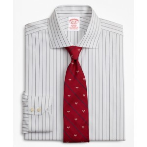 Stretch Madison Classic-Fit Dress Shirt, Non-Iron Pinstripe