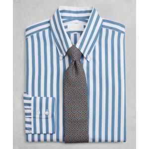 Golden Fleece Milano Slim-Fit Dress Shirt, Button-Down Collar Multi-Stripe Poplin