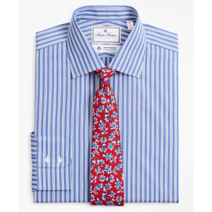 Luxury Collection Madison Classic-Fit Dress Shirt, Franklin Spread Collar Outline Stripe
