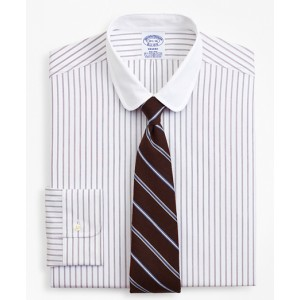 Stretch Regent Fitted Dress Shirt, Non-Iron Dotted-Stripe