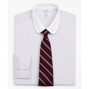 Stretch Regent Fitted Dress Shirt, Non-Iron Double-Stripe