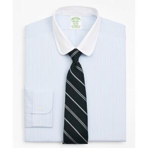 Stretch Milano Slim-Fit Dress Shirt, Non-Iron Stripe