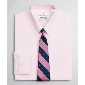 Madison Classic-Fit Dress Shirt, Performance Non-Iron with COOLMAX, Button-Down Collar Twill