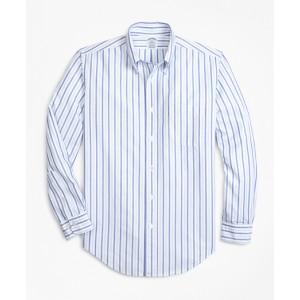 Regent Fit Oxford Alternating Stripe Sport Shirt