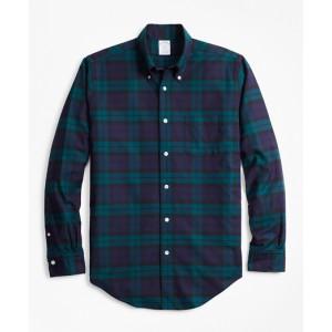 Regent Fit Oxford Black Watch Sport Shirt