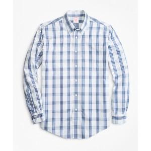 Non-Iron Madison Fit Bold Windowpane Sport Shirt