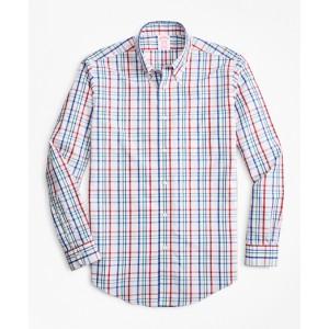 Non-Iron Madison Fit Multi-Windowpane Sport Shirt