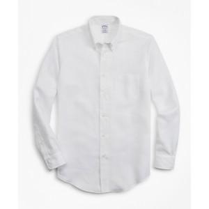 Regent Fit Textured Stripe Irish Linen Sport Shirt